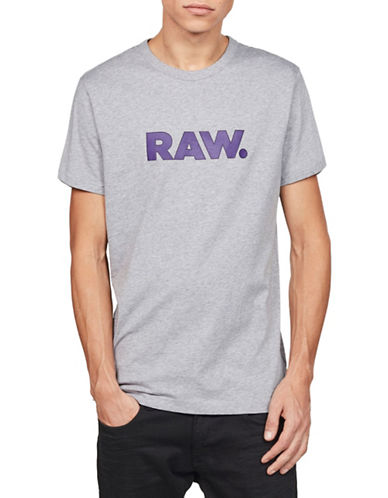 G-Star Raw Xenoli Short-Sleeve Cotton Tee-GREY-X-Large