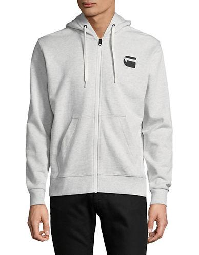 G-Star Raw Logo Long-Sleeve Hoodie-WHITE-XX-Large 89874170_WHITE_XX-Large