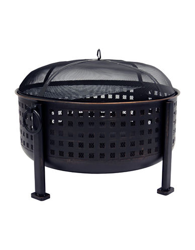 Greenway Home Products Pleasant Hearth Langston Deep Bowl Fire Pit-BRONZE-One Size