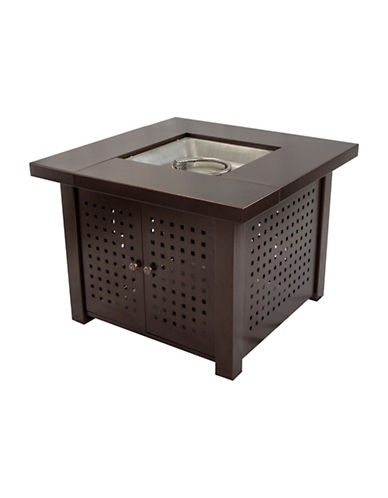 Greenway Home Products Pleasant Hearth Eden Square Gas Fire Pit Table-BRONZE-One Size
