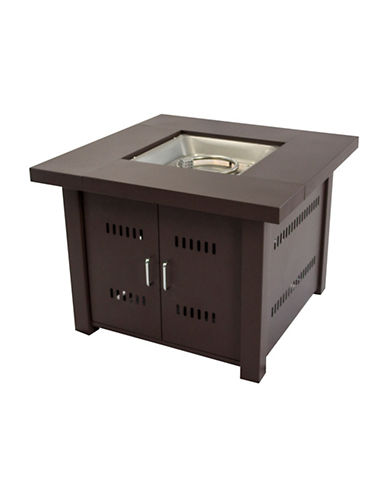Greenway Home Products Pleasant Hearth Avalon Square Gas Fire Pit Table-BRONZE-One Size