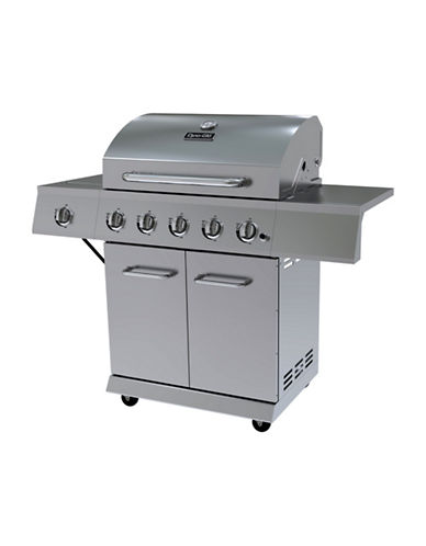 Dyna-Glo Five-Burner Stainless Steel LP Gas Grill-STAINLESS STEEL-One Size