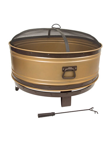 Greenway Home Products Pleasant Hearth Colossal Round Deep Bowl Fire Pit-GOLD-One Size