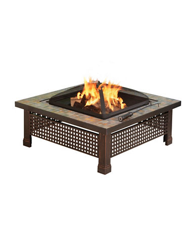 Greenway Home Products Pleasant Hearth Bradford Slate Fire Pit-BRONZE-One Size