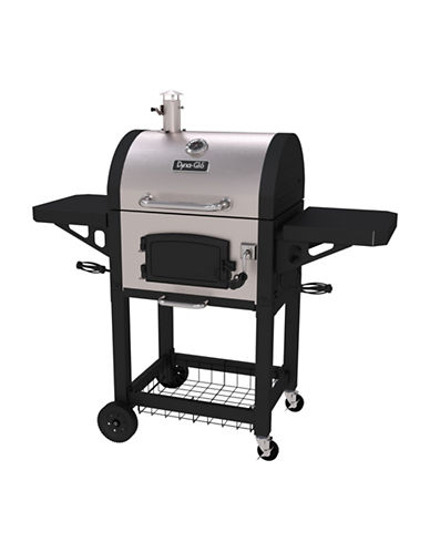 Dyna-Glo Premium Compact Charcoal Grill-STAINLESS STEEL-One Size