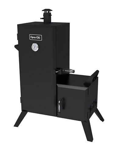 Dyna-Glo Vertical Offset Charcoal Smoker-BLACK-One Size