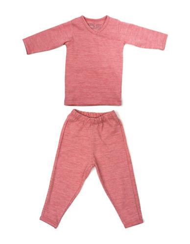 Merino Kids Merino Wool Pyjama Set-RASPBERRY-12-24 Months