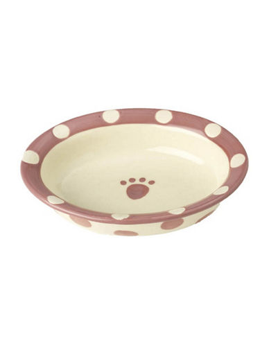 Petrageous Designs Polka Paws Oval Bowl-PINK-One Size