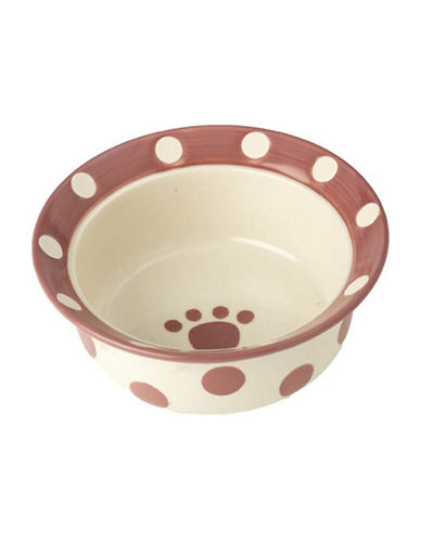 Petrageous Designs Polka Paws Deep Bowl-PINK-One Size