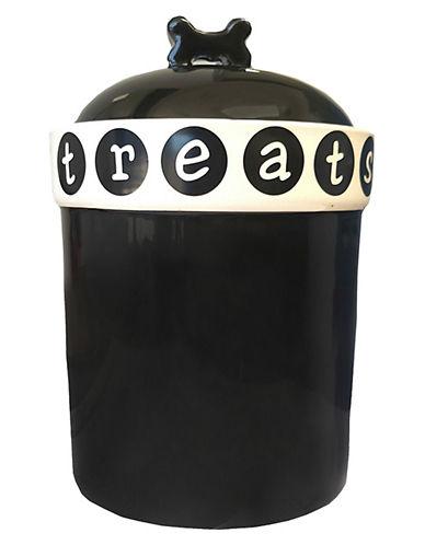 Petrageous Designs Pooch Basics Treat Jar-BLACK-One Size