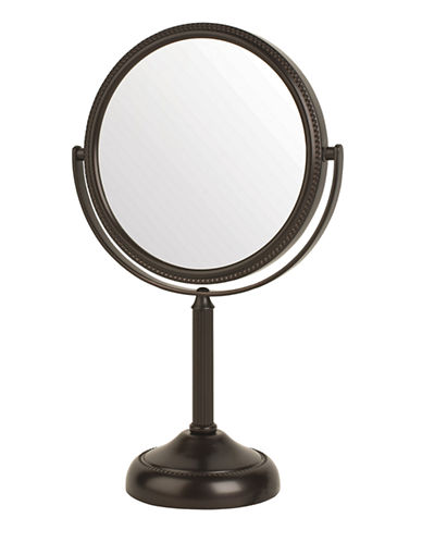 Jerdon Magnified Table Top Vanity Mirror-NICKEL-One Size