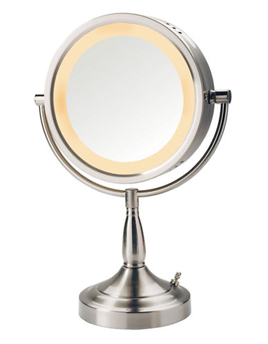 Jerdon Halo Lighted Vanity Mirror-NICKEL-One Size
