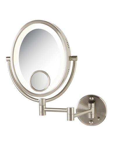 Jerdon 10X Light Wall Mount Mirror-NICKEL-One Size 76944941_NICKEL_One Size