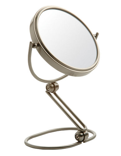 Jerdon 10X Magnifying Travel Mirror-NICKEL-One Size