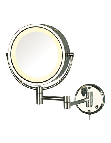Jerdon 8X Magnifying Wall Mount Mirror-CHROME-One Size