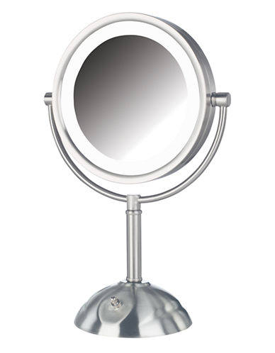 Jerdon 8X LED Lighted Vanity Mirror-NICKEL-One Size