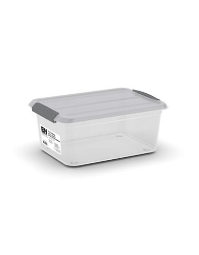 Essential Needs Hinged Lid Transparent Latch Box-GREY-One Size