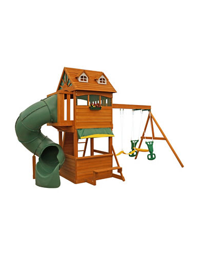 Big Backyard Forest Hill Retreat Seven-Piece Play Set-CEDAR-One Size