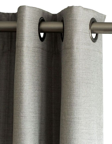 Home Outfitters Cabo Linen Look Blackout Curtain-LIGHT GREY-108 inches