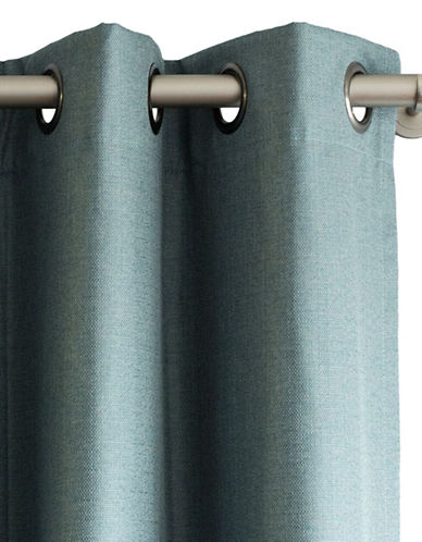 Home Outfitters Cabo Linen Look Blackout Curtain-TEAL-84 inches