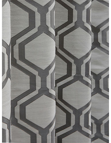 Home Outfitters Set of Two Vino Jacquard Curtains-CHARCOAL-96 inches
