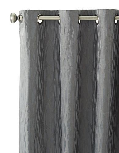 Home Studio Hampton Grommet Curtain Panel-GREY-One Size