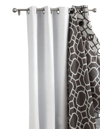 Home Outfitters Set of Two Grommet Blackout Curtain-WHITE-92 inches