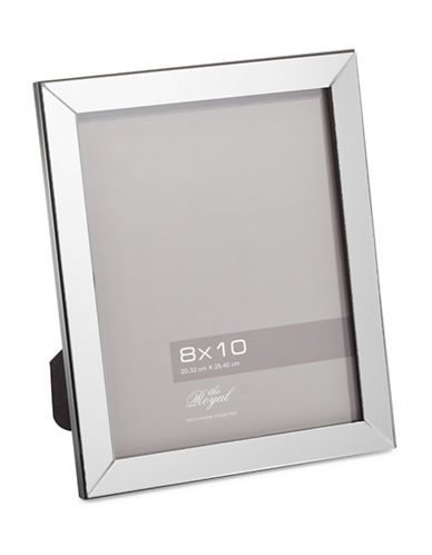 Home Outfitters 8-Inch x 10-Inch Mirror Photo Frame-SILVER-One Size