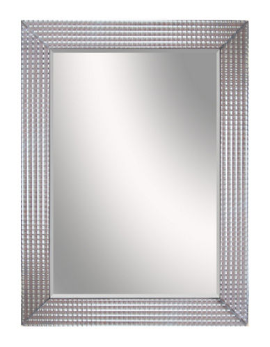 Home Outfitters Bling Checkered Mirror-SILVER-One Size