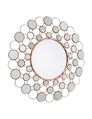 Home Outfitters Ashley Circles Mirror-SILVER-One Size