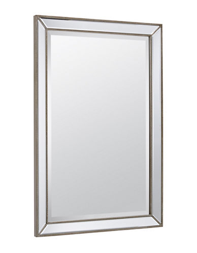 Home Outfitters Lily-Rose Bevelled Beaded Mirror-SILVER-One Size