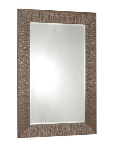 Home Outfitters Ivy Wire Mesh Motif Mirror-BEIGE-One Size