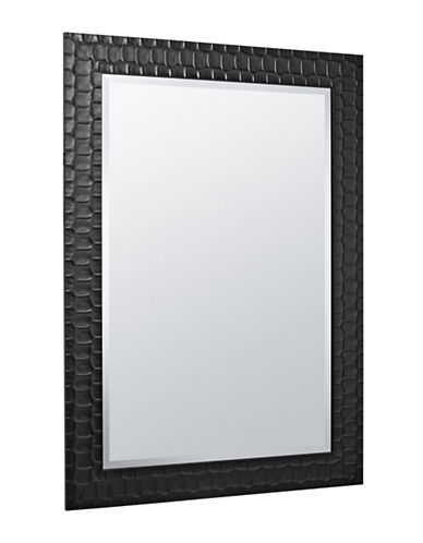 Home Outfitters Hudson Textured Mirror-BLACK-One Size