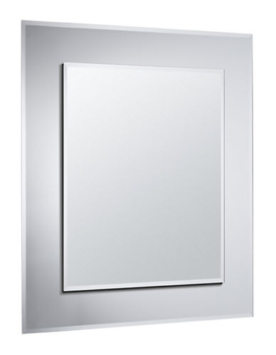 Home Outfitters Infinity Double Frameless Mirror-CLEAR-One Size