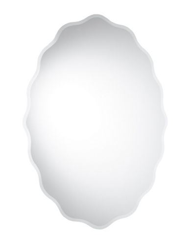 Home Outfitters Rosalind Frameless Oval Mirror-CLEAR-One Size