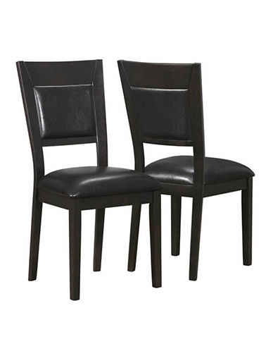 Monarch 9 Inch Leather Look Padded Dining Chairs-CAPPUCCINO-One Size