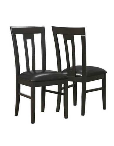 Monarch 39 Inch Slat Back Dining Chairs-CAPPUCCINO-One Size