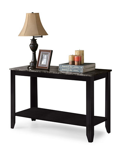 Monarch Marble-Look Console Table-BLACK-One Size