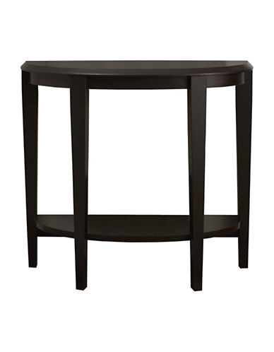 Monarch Half-Moon Hall Console Accent Table-BROWN-One Size