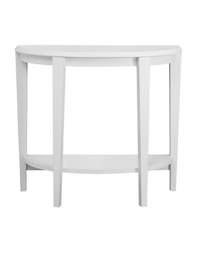 Monarch Half-Moon Hall Console Accent Table-WHITE-One Size