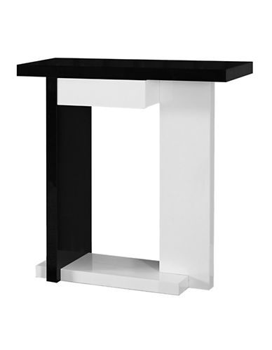 Monarch Hall Console Accent Table with Drawer-WHITE-One Size