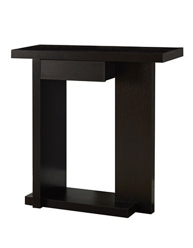 Monarch Hall Console Accent Table with Drawer-BROWN-One Size