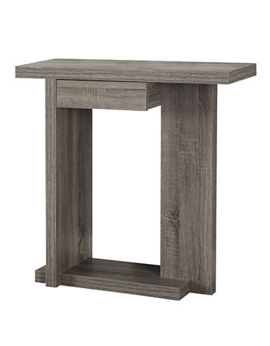 Monarch Hall Console Accent Table with Drawer-DARK BLUE-One Size