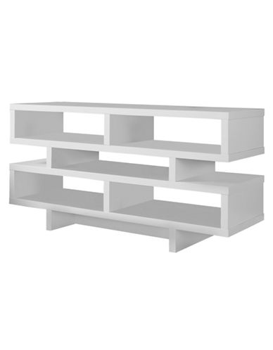 Monarch TV Stand with Five Shelves-WHITE-One Size
