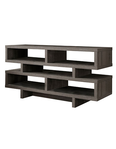 Monarch TV Stand with Five Shelves-TAUPE-One Size