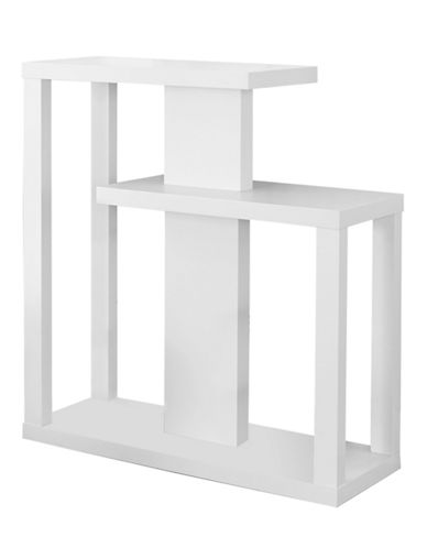 Monarch Open Concept Accent Table-WHITE-One Size