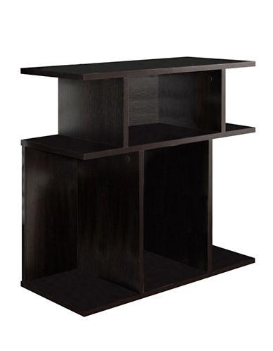 Monarch Seven-Shelf Open-Concept Accent Table-CAPPUCCINO-One Size