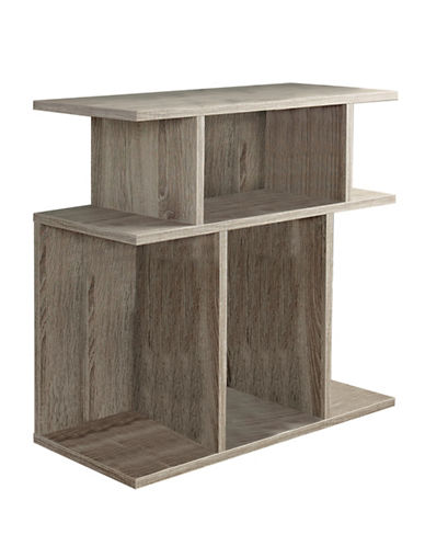 Monarch Seven-Shelf Open-Concept Accent Table-DARK TAUPE-One Size