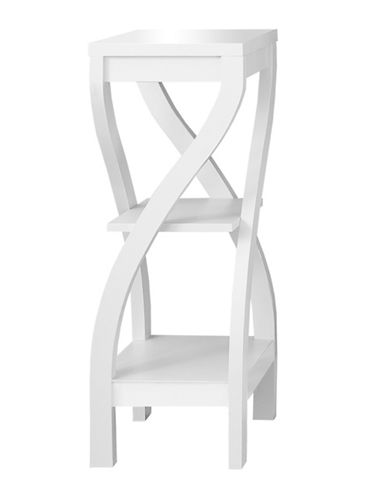 Monarch Curved-Leg Accent Table-WHITE-One Size