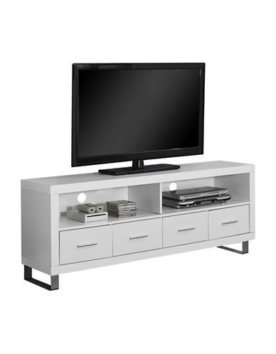 Monarch 60 Inch Four Drawer TV Stand-WHITE-One Size